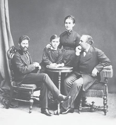 М.М. Антокольский, Сергей, Елизавета Григорьевна и Савва Иванович Мамонтовы. 1878 г.
