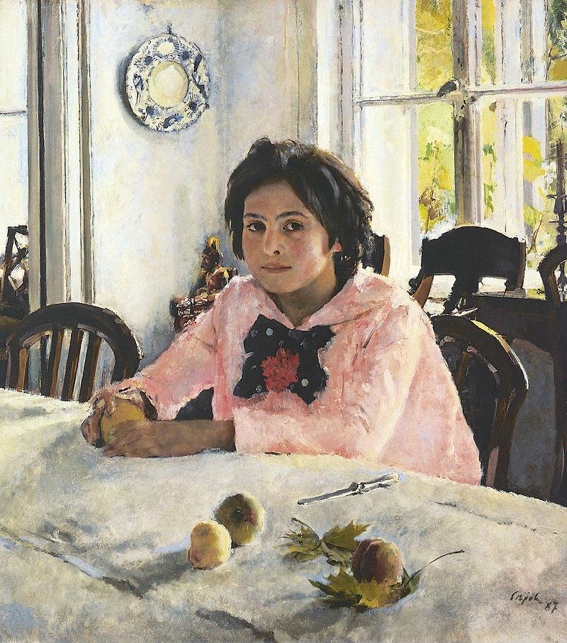 Валентин Серов. Девочка с персиками, 1887 год