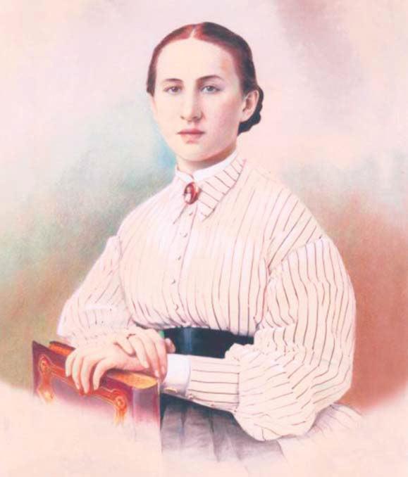 Елизавета Григорьевна Мамонтова. 1866 г.