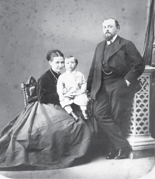 Елизавета Григорьевна, Серёжа, Савва Иванович Мамонтовы. 1868 г.