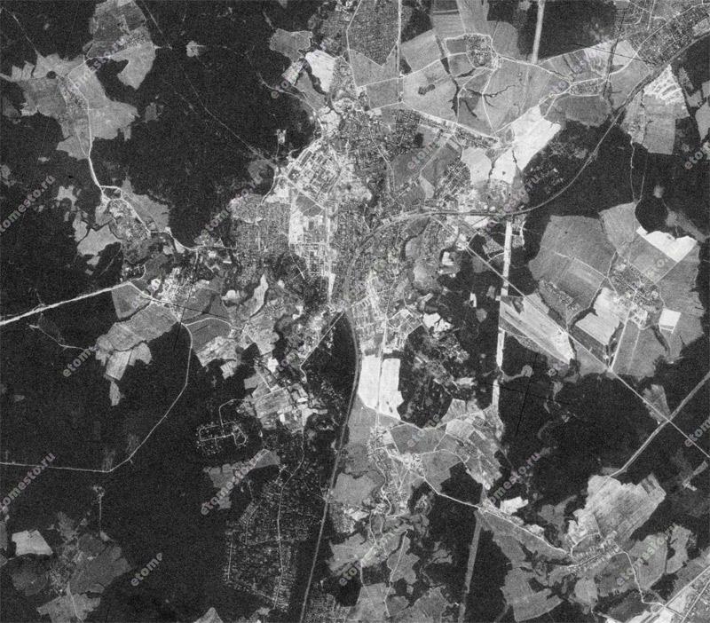 Окрестности Хотькова. Фотография с американского спутника-шпиона. 17 июля 1973 года.