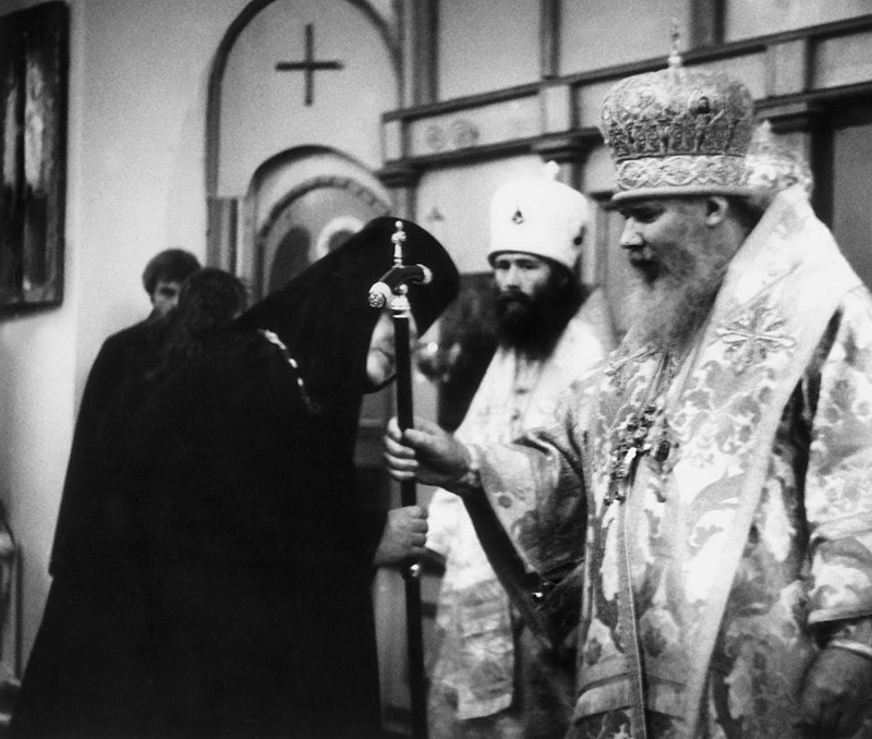 Игумения Олимпиада и патриарх Алексий II.