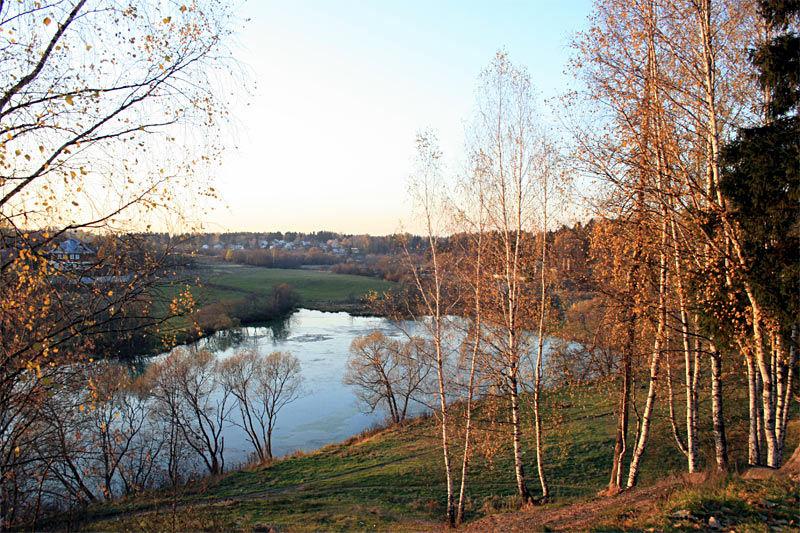 Река Воря. Хотьково, близ деревни Быково