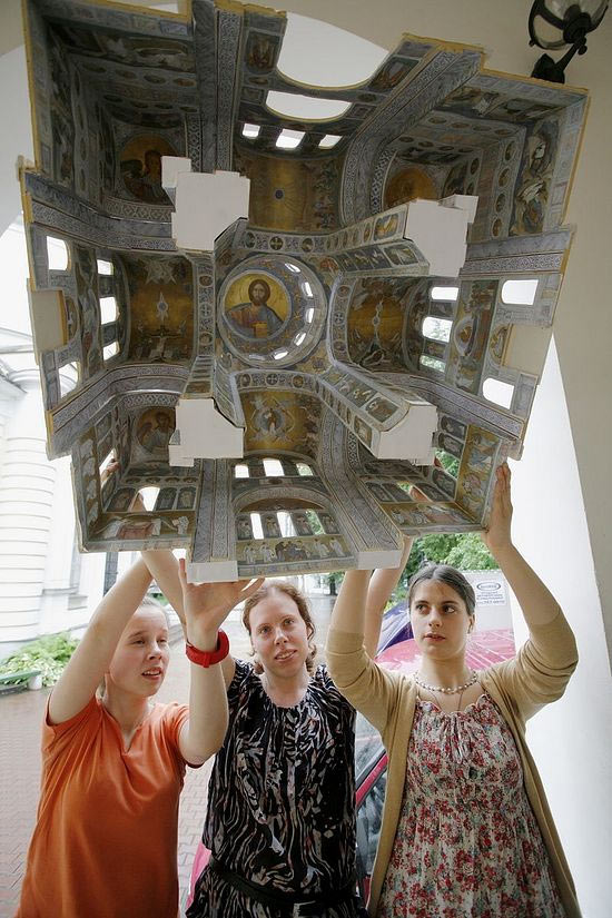 Роспись Никольского собора в Покровском хотьковском монастыре