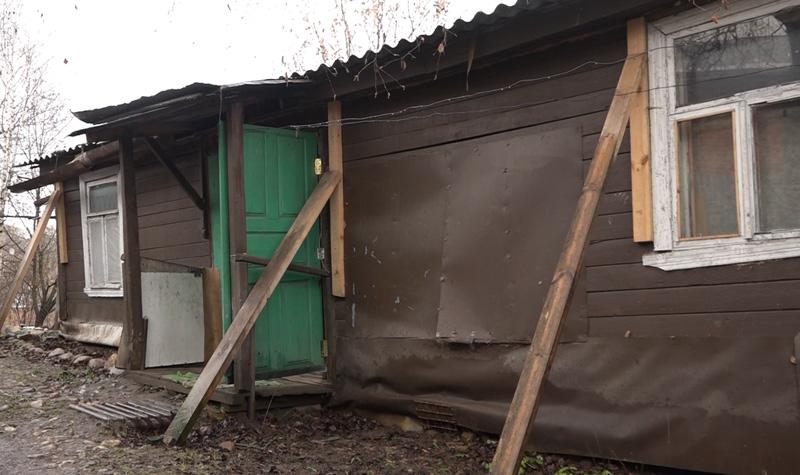 Аварийный дом в Хотькове