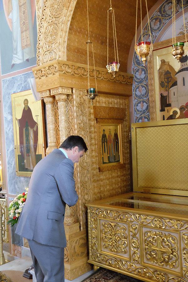 Хотьково. Андрей Воробьев на праздновании 25-летия возобновления монашеской жизни Покровского монастыря 10 сентября 2017