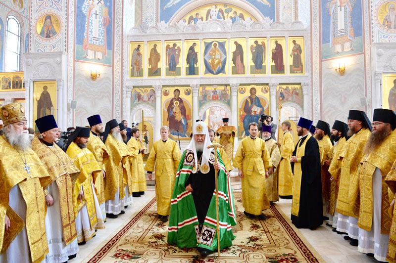 Хотьково. Патриарх Кирилл на праздновании 25-летия возобновления монашеской жизни Покровского монастыря 10 сентября 2017
