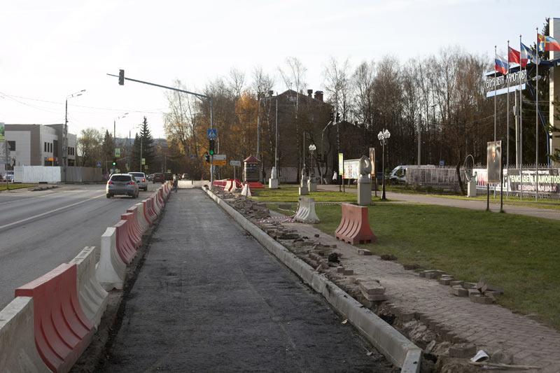 Вторая полоса на светофоре в Хотькове