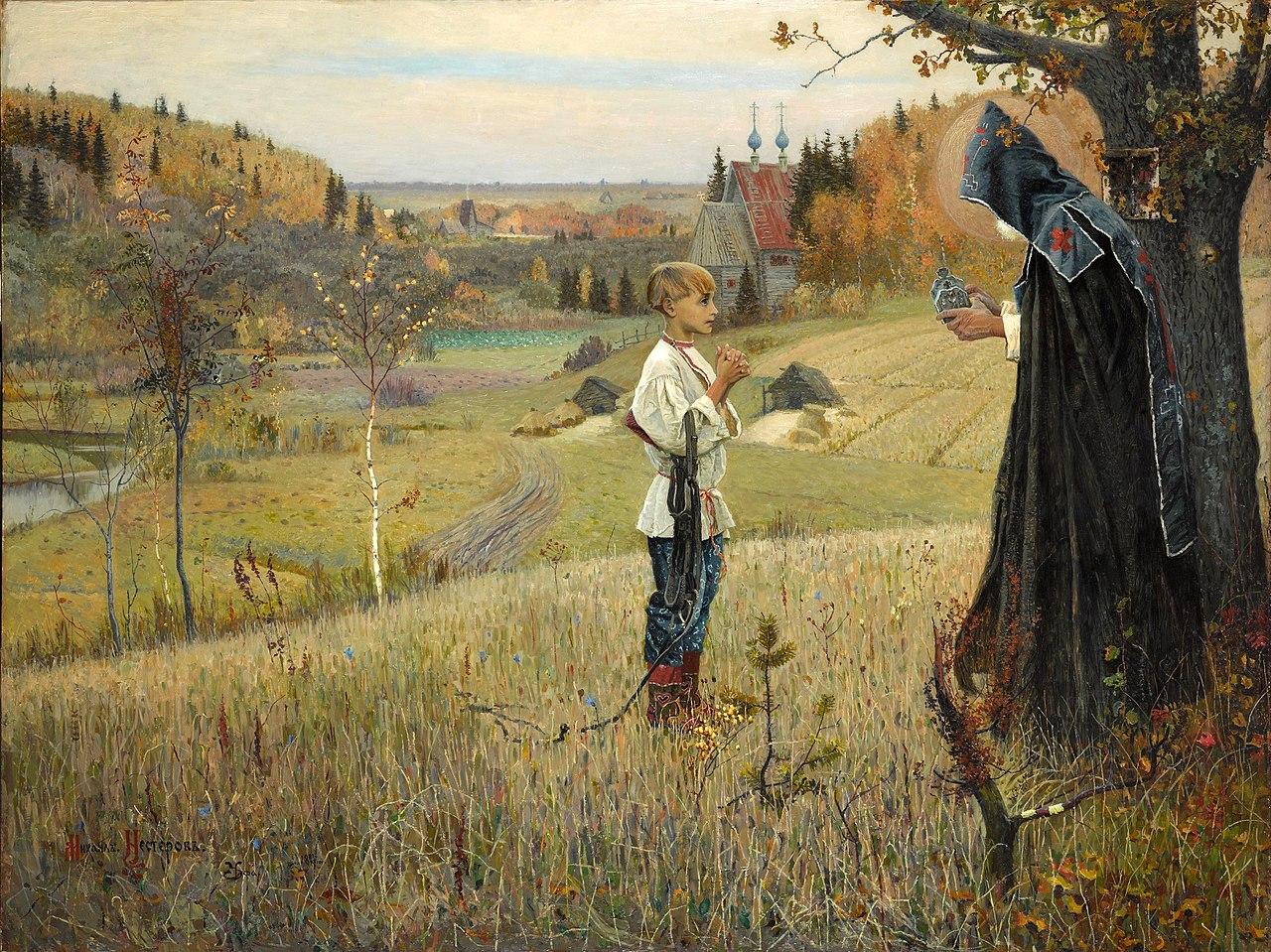 Видение отроку Варфоломею — картина Михаила Васильевича Нестерова
