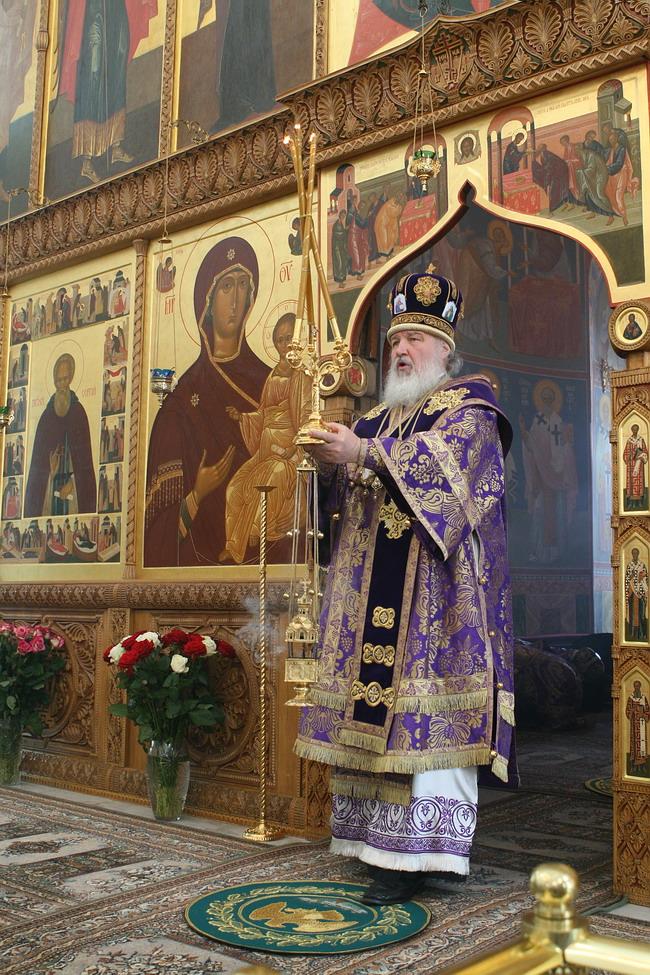 Патриарх Кирилл в Покровском хотьковском монастрые