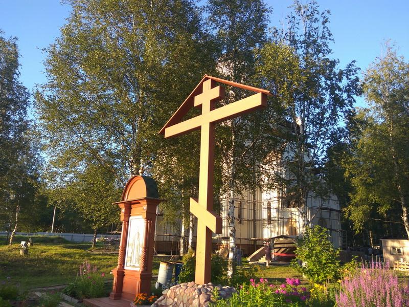 Первая служба в церкви Серафима Саровского в Хотькове. 31 июля 2018 года
