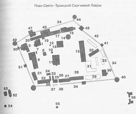 План-схема Троице-Сергиевой